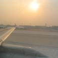 北京国際空港の夕日