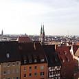 ニュルンベルク市街一望
